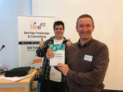 Winner of the price dpunkt at devops gathering